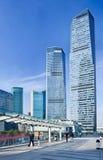 Rascacielos en el distrito financiero de Lujizui, Shangai, China Foto de archivo libre de regalías