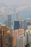 Rascacielos en Hong Kong Island imágenes de archivo libres de regalías