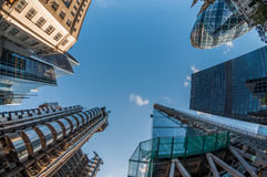 Rascacielos en la ciudad de Londres Imagen de archivo libre de regalías