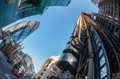 Rascacielos en la ciudad de Londres Imagenes de archivo
