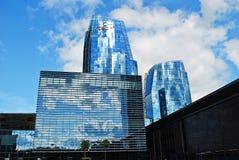 Rascacielos en la ciudad de Vilna el 24 de septiembre de 2014 foto de archivo