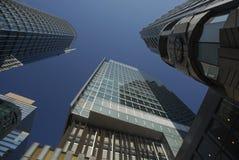 Rascacielos en la isla de Hong-Kong imagen de archivo libre de regalías