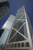Rascacielos en la isla de Hong-Kong fotografía de archivo