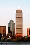 Rascacielos en la puesta del sol Imágenes de archivo libres de regalías