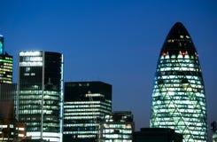 Rascacielos en Londres Foto de archivo libre de regalías
