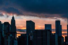 Rascacielos en Manhattan Fotos de archivo