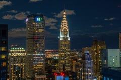 Rascacielos en Manhattan Imágenes de archivo libres de regalías