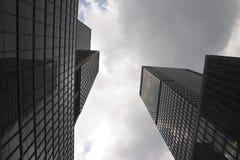 Rascacielos en Manhattan (Nueva York) Imagen de archivo