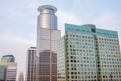 Rascacielos en Minneapolis imágenes de archivo libres de regalías