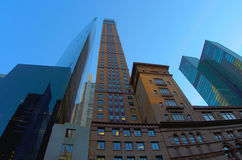 Rascacielos en New York City Imagenes de archivo