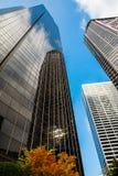 Rascacielos en otoño Imágenes de archivo libres de regalías