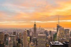 Rascacielos famosos de Nueva York Imagen de archivo libre de regalías