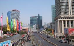 Rascacielos financieros del distrito de Lujiazui en Shangai Fotos de archivo libres de regalías