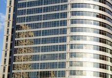 Rascacielos Fondo moderno de la ciudad de la sociedad, entonando Llamarada de la lente Tecnología de las finanzas del negocio imagenes de archivo