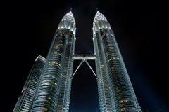 Rascacielos gemelos Fotografía de archivo libre de regalías