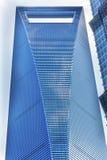 Rascacielos Liujiashui Shangai China del centro financiero de mundo Imagen de archivo libre de regalías