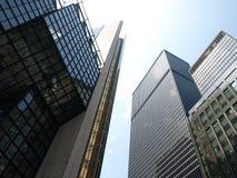 Rascacielos modernos de la ciudad Fotos de archivo