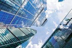 Rascacielos modernos del acero y del vidrio Fotografía de archivo