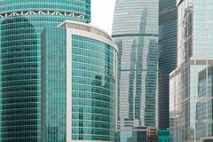 Rascacielos modernos del asunto en la ciudad de Moscú Fotos de archivo libres de regalías