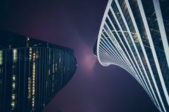 Rascacielos modernos en el centro Foto de archivo libre de regalías