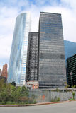 Rascacielos modernos en el distrito financiero de Manhattan, New York City Fotos de archivo