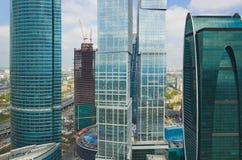 Rascacielos modernos en la ciudad de Moscú, Rusia Foto de archivo