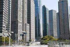 Rascacielos modernos en Shangai céntrica Fotos de archivo