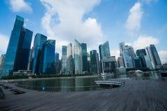 Rascacielos modernos en Singapur Foto de archivo libre de regalías