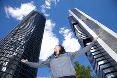 Rascacielos que adoran de la mujer Imagen de archivo