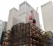 Rascacielos que es construido Fotos de archivo