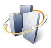 Rascacielos urbanos de la ciudad Imagen de archivo libre de regalías