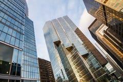 Rascacielos urbanos glassed ciudad de Toronto Foto de archivo