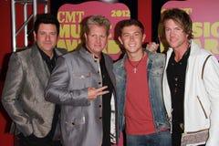 Rascal Flatts and Scotty McCreery at the 2012 CMT Music Awards, Bridgestone Arena, Nashville, TN 06-06-12. Rascal Flatts and Scotty McCreery  at the 2012 CMT Royalty Free Stock Photography