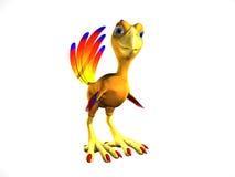 Rascally Bird Cartoon. Closep of a cartoon bird with a rascally expression Royalty Free Stock Photography