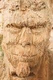 Raschiare-fronte della scultura della sabbia immagine stock libera da diritti