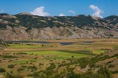 Rascino lake in Lazio Stock Photo