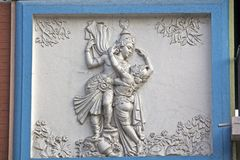 Rasdha and Krishna Stock Photo