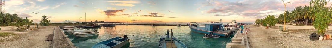 RASDHOO, MALDIVES - MARCH 2015: Beautiful colors of Maldives. Ra Stock Photo