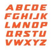 Rasdoopvont Geometrisch cursief alfabet, moderne gestileerd, monogram, mooie brieveninzameling, vectorillustraties Royalty-vrije Stock Foto's