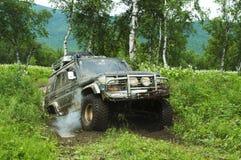 Rase del jeep Imagen de archivo libre de regalías