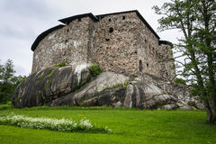 Raseborg Castle. Finland. The ruins of Raseborg Castle first phase of which was completed somewhere between 1373 and 1378 Stock Image