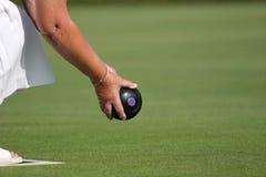 Rasen-Bowlingspiel Stockfotos