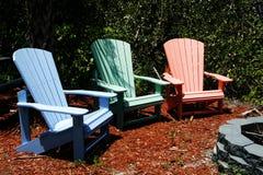 Rasen-Stühle Stockfotos