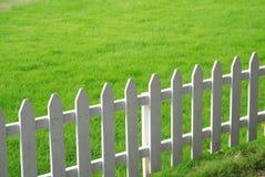 Rasen und Geländer Lizenzfreie Stockbilder