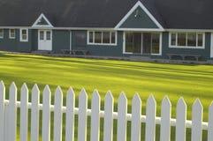 Rasenbowlingspielklubhaus Lizenzfreies Stockfoto