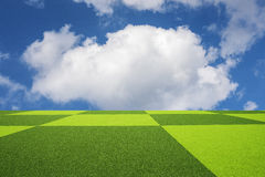 Rasenfläche und blauer Himmel Lizenzfreies Stockbild