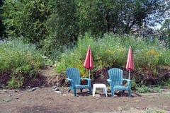Rasenholzkohlen am Ufer Lizenzfreies Stockfoto