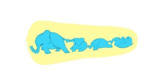 Raserianfallelefanter Royaltyfri Bild