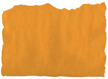 Rasgón de papel amarillo viejo Imagen de archivo