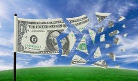 Rasgón del dólar Imagen de archivo